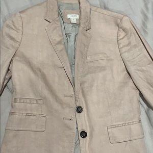 Blush cotton blazer Jcrew